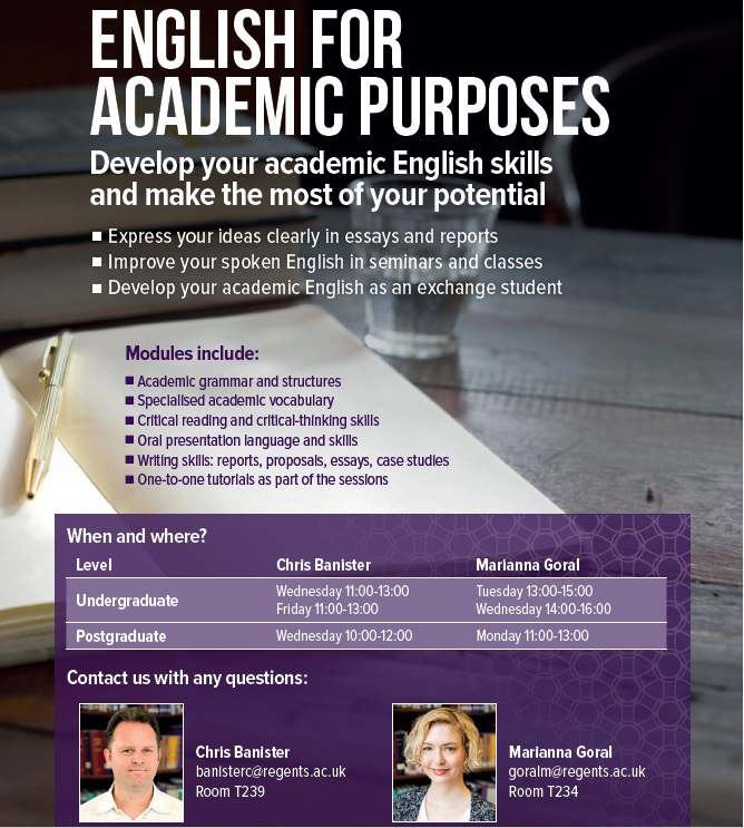 english for academic purpose Learn english with our english for academic purposes (eap) classes eap classes help students whose primary language is not english, bring their language skills up to the level where they.